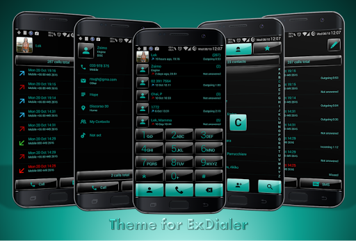 Dialer theme G Black Green