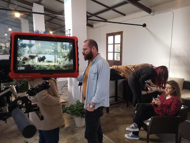 Juanfran Martínez, durante la grabación del spot en La Fábrica de Los Genoveses.