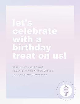 Birthday Treat - Birthday Flyer item