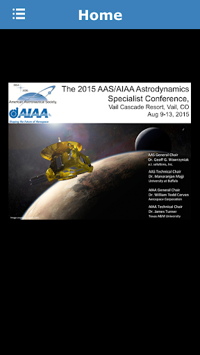 AAS AIAA Conference 2015