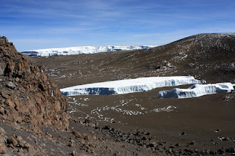 Photo: The Northern Ice Field and the Furtwangler Glacier (foreground)