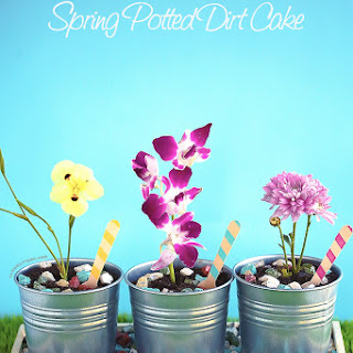 Spring Potted Dirt Cake