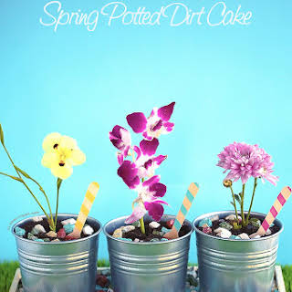 Spring Potted Dirt Cake.