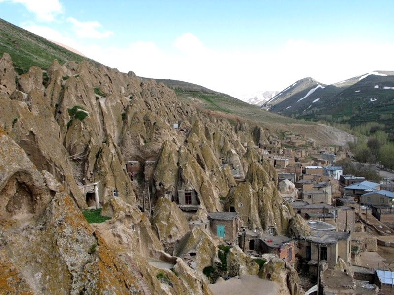 Kandovan, uma troglodita vila iraniana