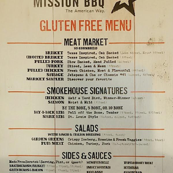 Extensive GF menu