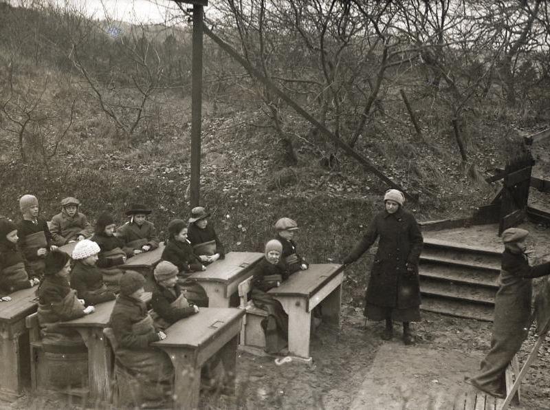 Open-air school in the Netherlands