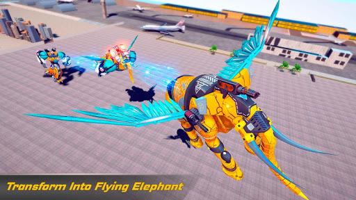 Flying Elephant Robot Transform: Flying Robot War 1.1.1 Screenshots 9