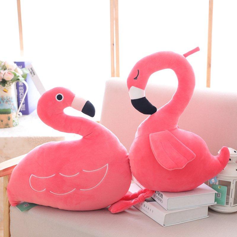 Hot Pink Flamingo Pillow