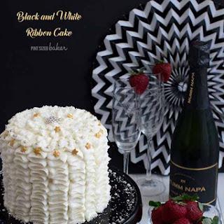 Black and White Birthday Cakes.