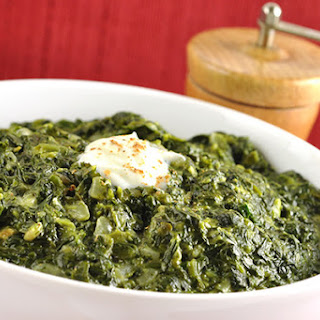 Classic Creamed Spinach.