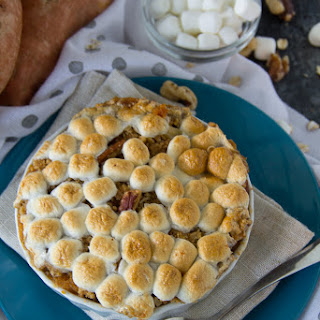 Sweet Potato Casserole with a Marshmallow Streusel {Video}