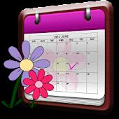 Women's Diary Period Calendar