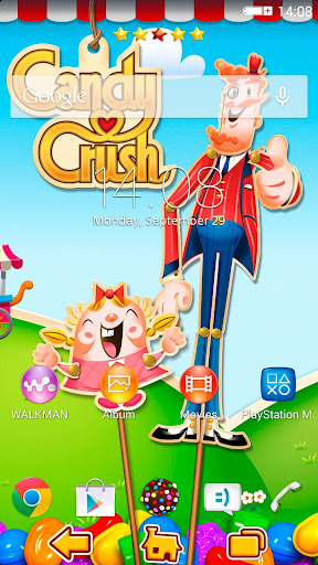 Xperia Theme Candy Crush screenshot 1