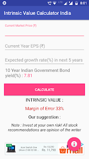 Intrinsic Value Calculator Indian Stock Prediction – Apps