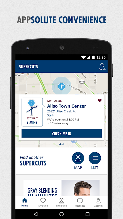 Supercuts Online Check-in- screenshot