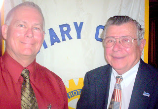 Photo: Guest Speaker Mike Schilsky and Frank - 4-17-2007