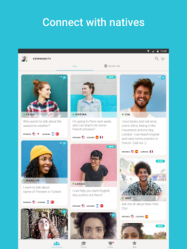 Tandem Language Exchange: Speak & learn languages 2.0.2 screenshots 6