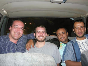 Photo: Sameer in the car with guys