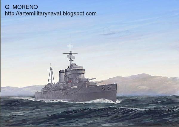 Buchones y el Crucero Canarias en Ifni