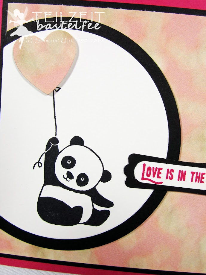 Stampin' Up! Party Pandas, Liebe, Herz, Heart, Love, Abgehoben, Lift Me Up, Sketch Challenge