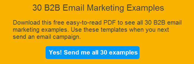 sample of email marketing