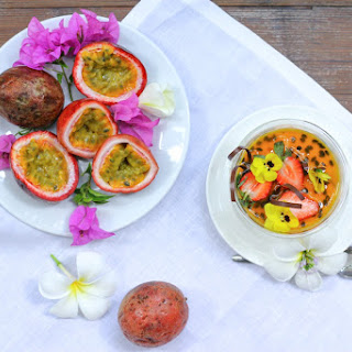 Passion Fruit Panna Cotta from the Chef at Grand Hyatt Bangkok (GF, DF, Paleo, AIP).