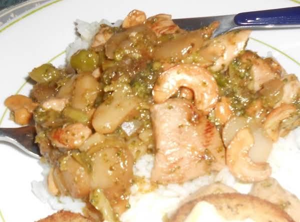 Ellen's Stir-fry Cashew Chicken Recipe