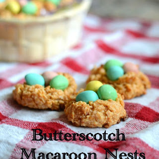 Butterscotch Macaroon Nests