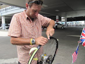 Photo: Year 2 Day 111 - Mending Puncture 1 in the Ferry Terminal