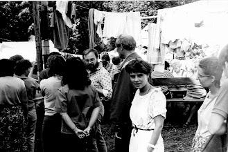 Photo: Święta Lipka 1987 kolejka do garkuchni m. in. Gosia