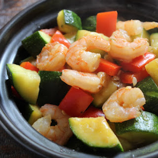 Healthy Shrimp With Zucchini.