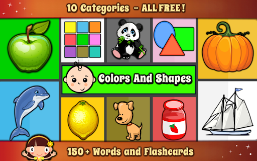 Kids Color Shapes Baby Words