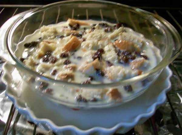 This Is The Farmhouse Bread Pudding Dish, Just Going Into The Oven. . .