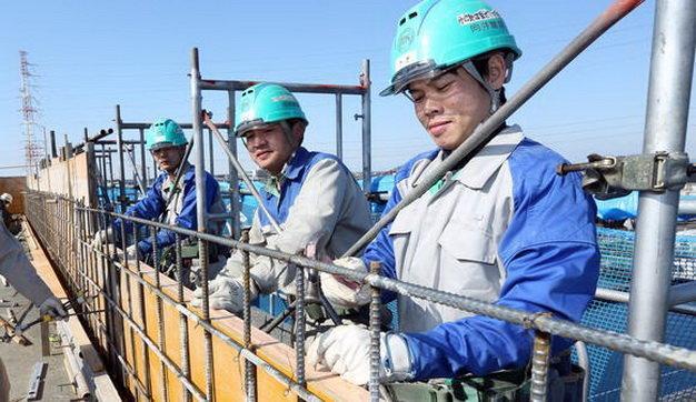 Kết quả hình ảnh cho xuất khẩu lao dộng sang nhật XÂY dựng