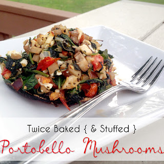 Twice Baked Portobello Mushrooms