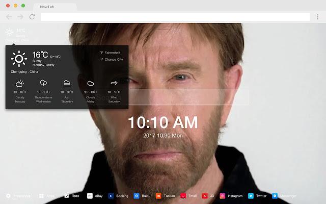 Chuck Norris  New Tab Page HD Pop Stars Theme