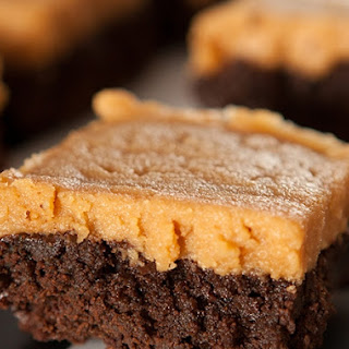 Chocolate Spinach Brownies with Peanut Butter Frosting Recipe