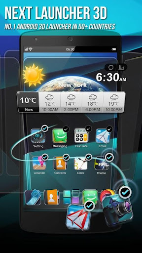 Next Launcher 3D Shell Lite screenshot 1