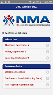 NMA 2017 Annual Conference Schedule- screenshot thumbnail