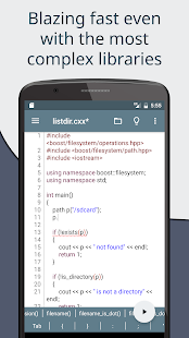 Cxxdroid - C++ compiler IDE for mobile development Screenshot