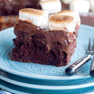Chocolate Marshmallow Poke Cake.
