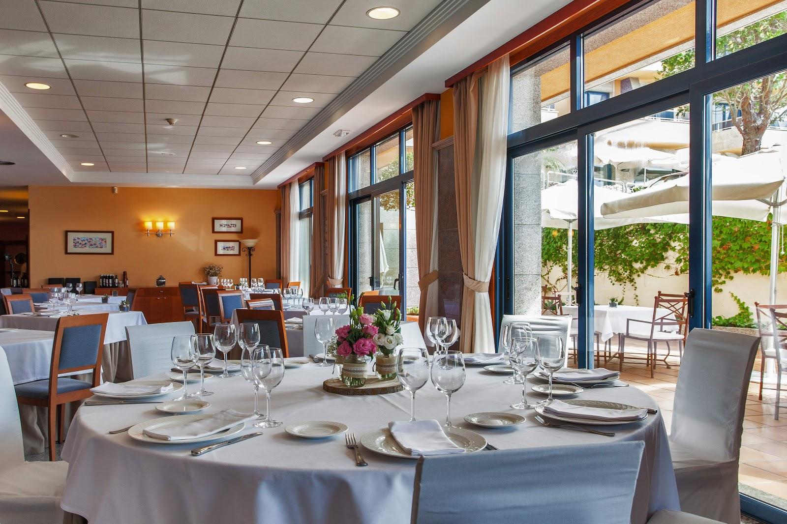Comedor y terraza del Hotel Spa Galatea
