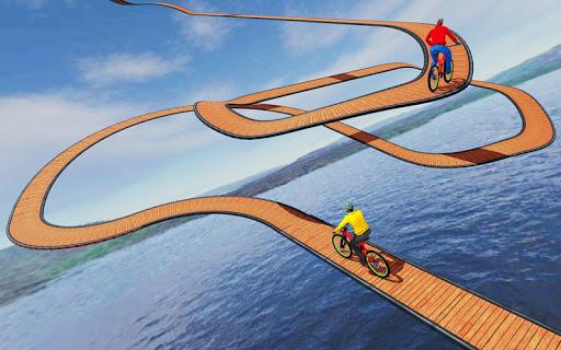 Code Triche cascade bicyclette des pistes: gratuit cycle Jeux mod apk screenshots 5