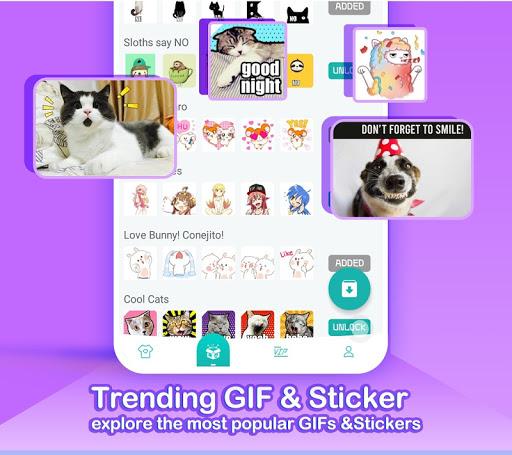 Kika Keyboard 2020 - Emoji Keyboard, Stickers, GIF 6.6.9.5856 Screenshots 5