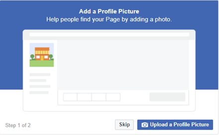 How to add a profile picture to your Facebook Business Page