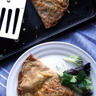 Chicken, Leek and Wholegrain Mustard Buckwheat Pancakes.