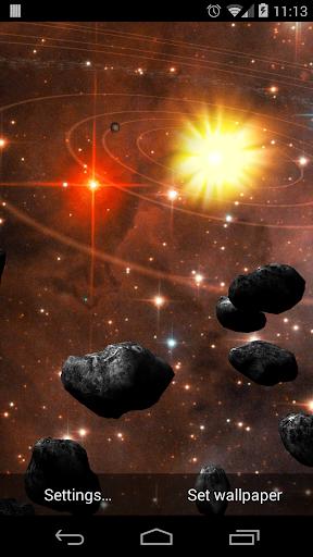 Asteroid Belt Live Wallpaper screenshot 2