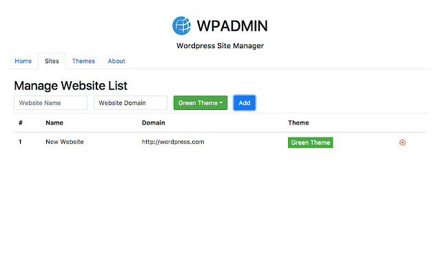 WPADMIN : Wordpress Site Manager