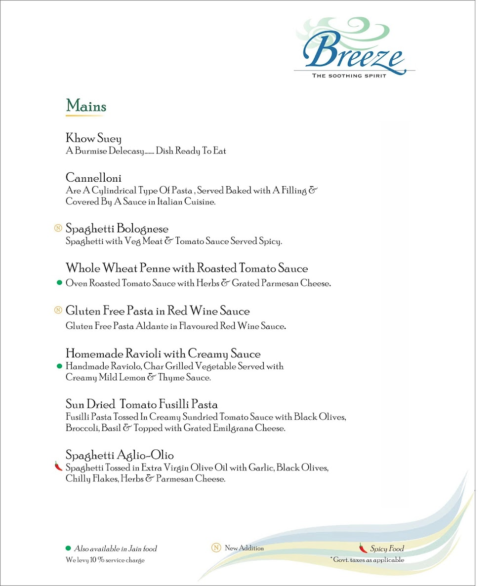 Breeze Lounge menu 6