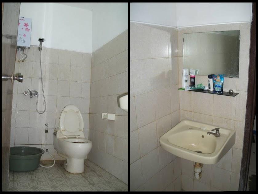 Kamar mandi dalam Hotel Kurnia Blora